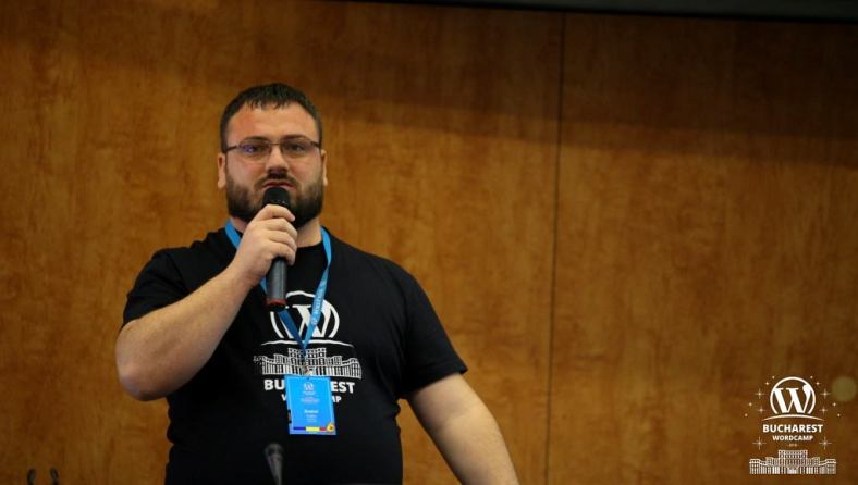 Andrei Lupu at WordCamp Bucharest