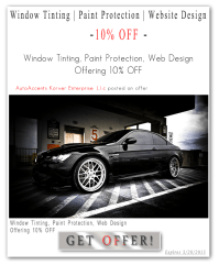 Auto Accents | #Car Window Tinting #Web Design #Sign ...