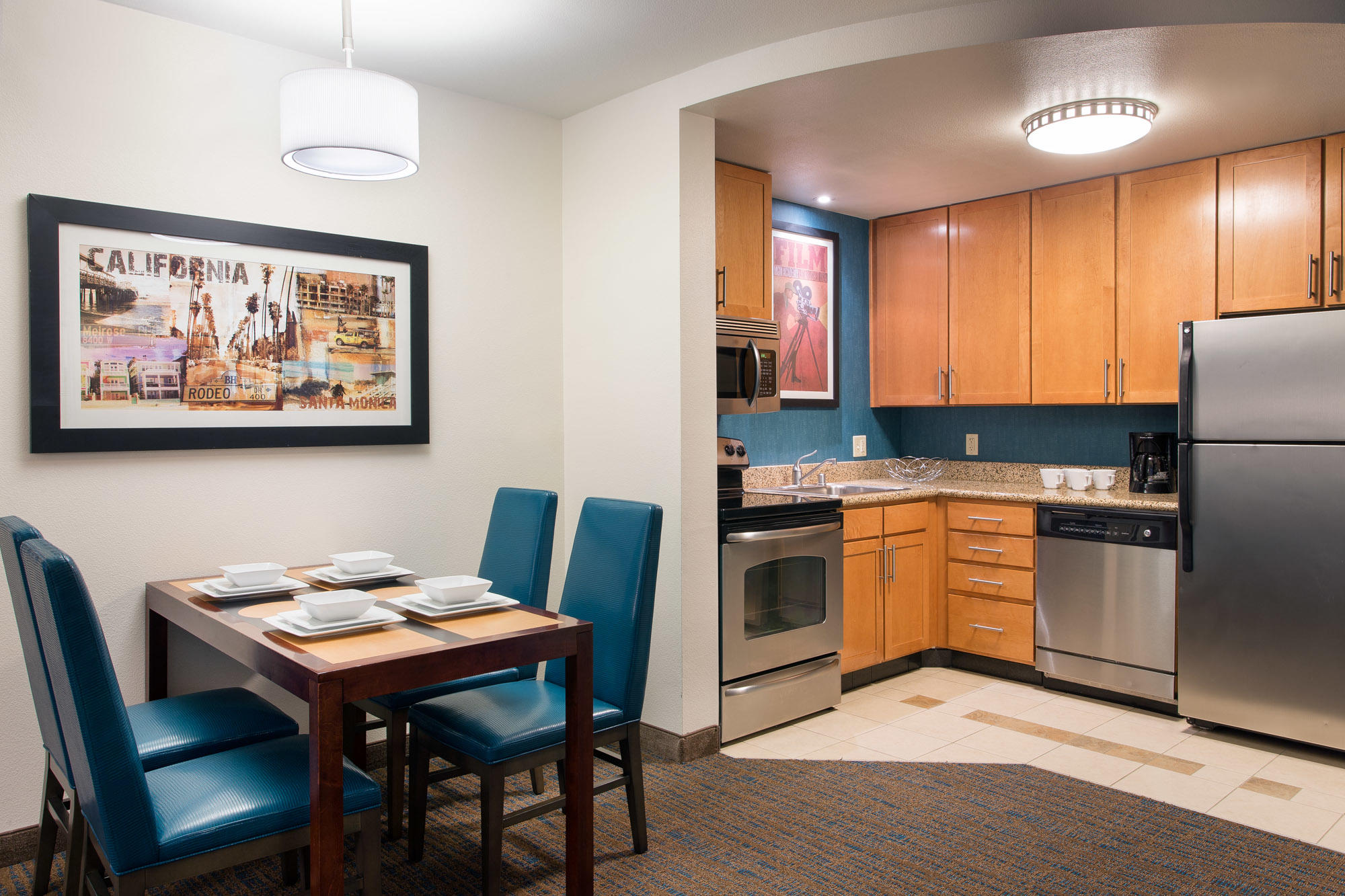 hotels with kitchen in los angeles gadgets residence inn by marriott burbank downtown at