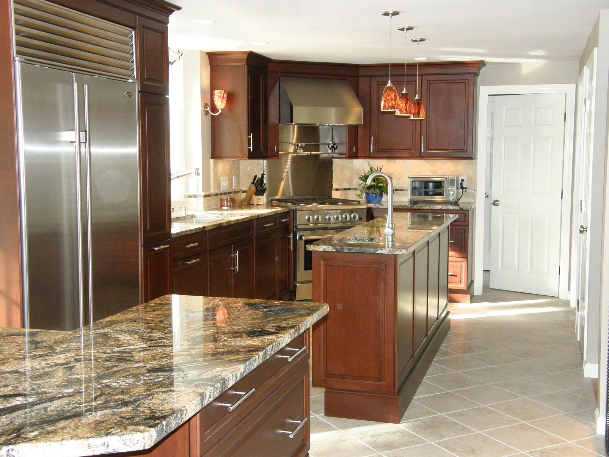kitchen and bath design center island with trash storage krb stratham new hampshire