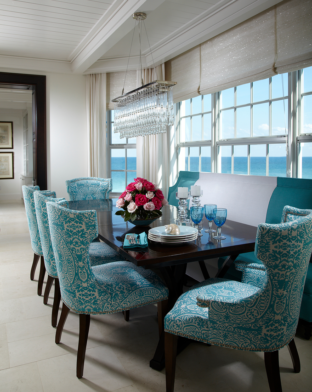 Aqua Dining Chairs Pineapple House Interior Design 190 Ottley Drive Ne