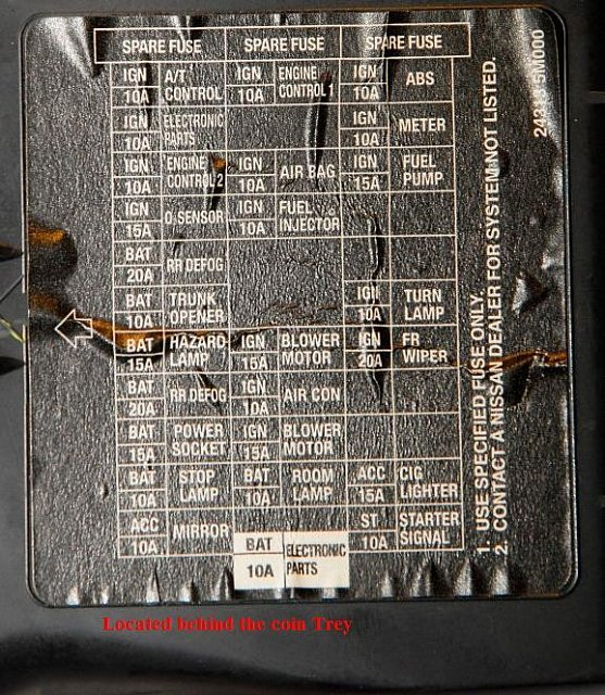 2000 2001 Nissan Altima Ecu Diagram