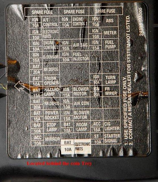 1994 nissan sentra fuse box diagram  schematic wiring