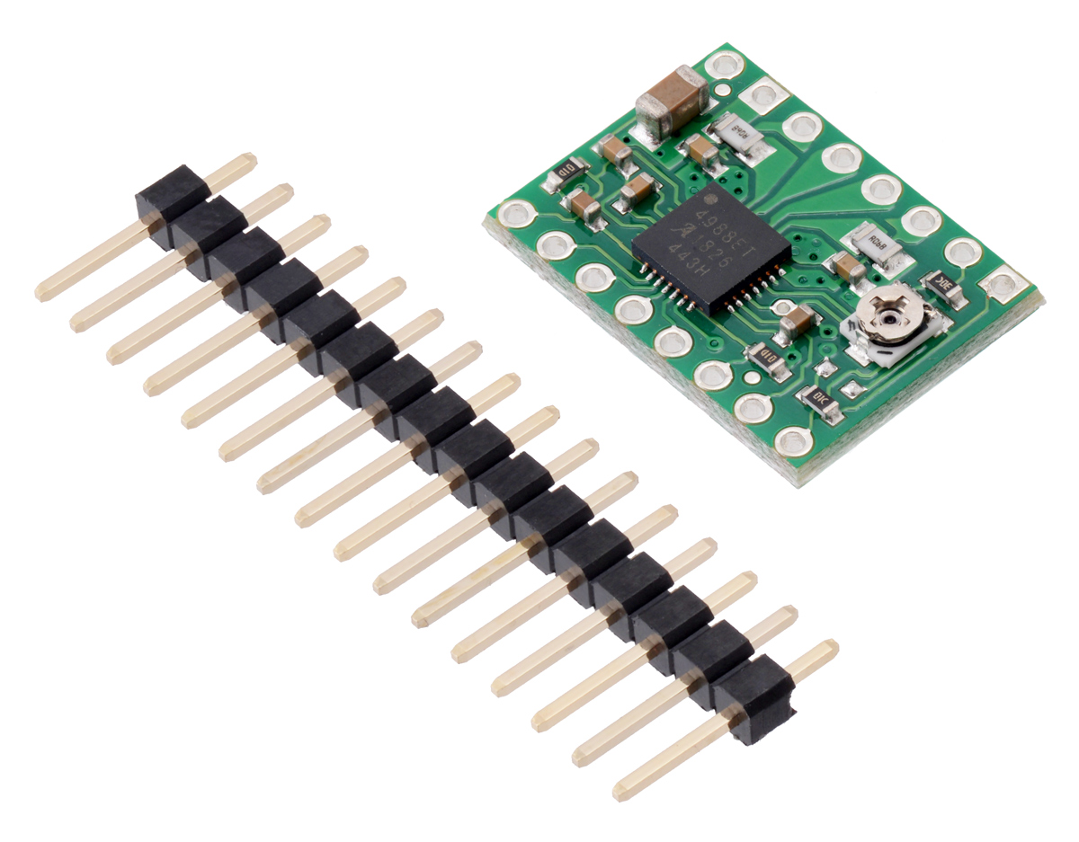 hight resolution of you can also solder your motor leads and other connections directly to the board a version of this board with headers already installed is also available