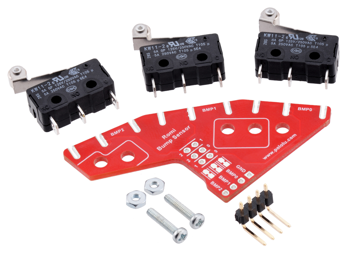 bumper switch kit for romi ti rslk not soldered can be assembled for left or right side  [ 1200 x 872 Pixel ]