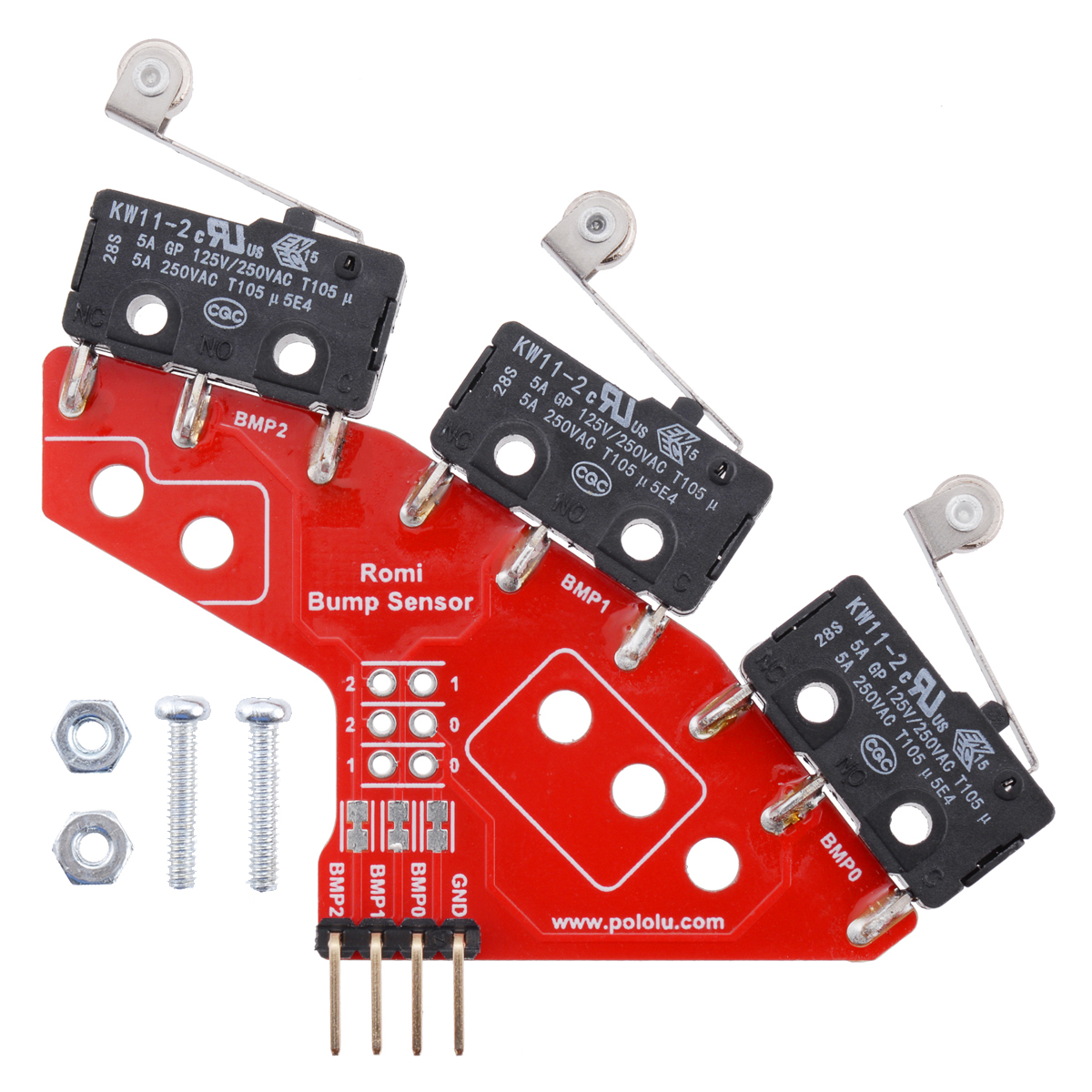 hight resolution of right bumper switch assembly for romi ti rslk through hole pins soldered