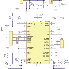 4 Wire Dc Motor Connection Diagram Trs Insert Cable Wiring Pololu A4983 Stepper Driver Carrier Schematic Of The Md09b