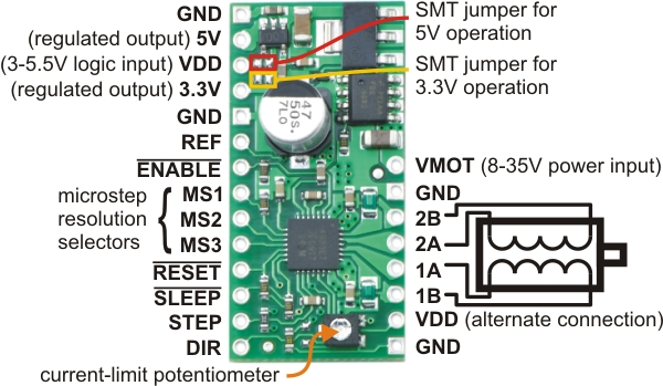 Ac Capacitor Wiring Diagram Pololu A4983 Stepper Motor Driver Carrier With Voltage