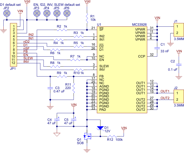 usb 2 0 wiring diagram deer kill zone pololu - mc33926 motor driver carrier