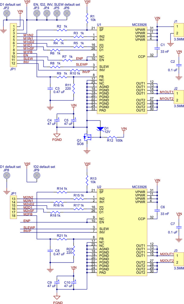 Pololu Dual Motor Driver Carrier (528V 3A MC33926) in