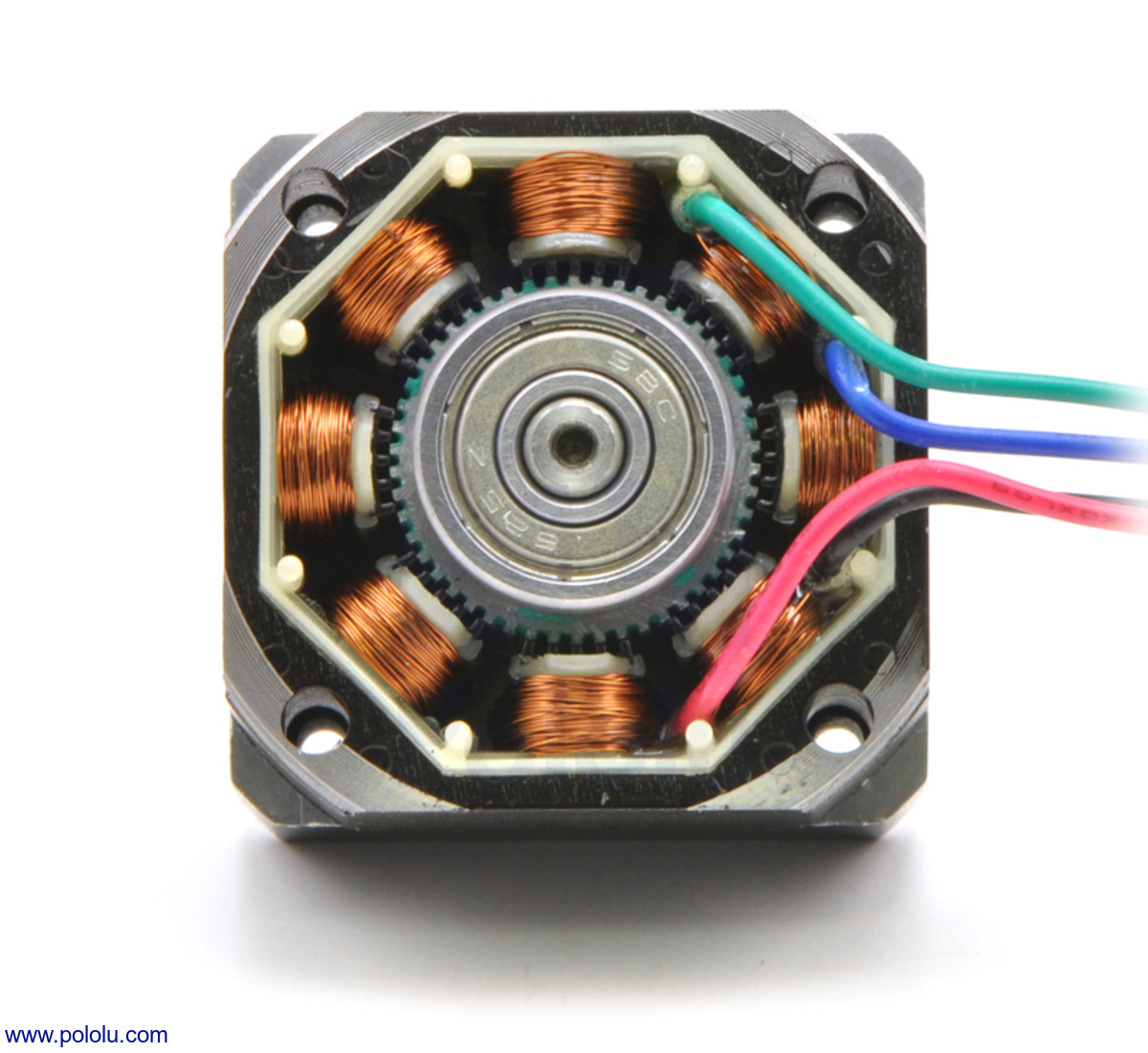 6 lead 3 phase motor wiring diagram ford taurus pololu - stepper motor: bipolar, 200 steps/rev, 28×32mm, 3.8v, 0.67 a/phase