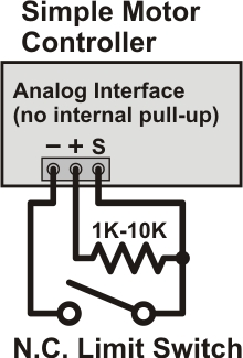 limit switch wiring diagram atwood rv furnace pololu 4 connecting a potentiometer or analog joystick that if the becomes disconnected in some way controller considers kill active and stops motor left