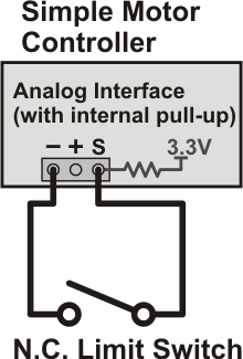 limit switch wiring diagram outlet parallel pololu 4 connecting a potentiometer or analog joystick that if the becomes disconnected in some way controller considers kill active and stops motor left