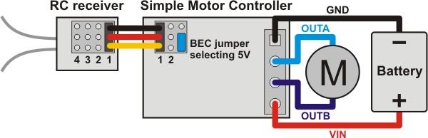 rc receiver wiring diagram