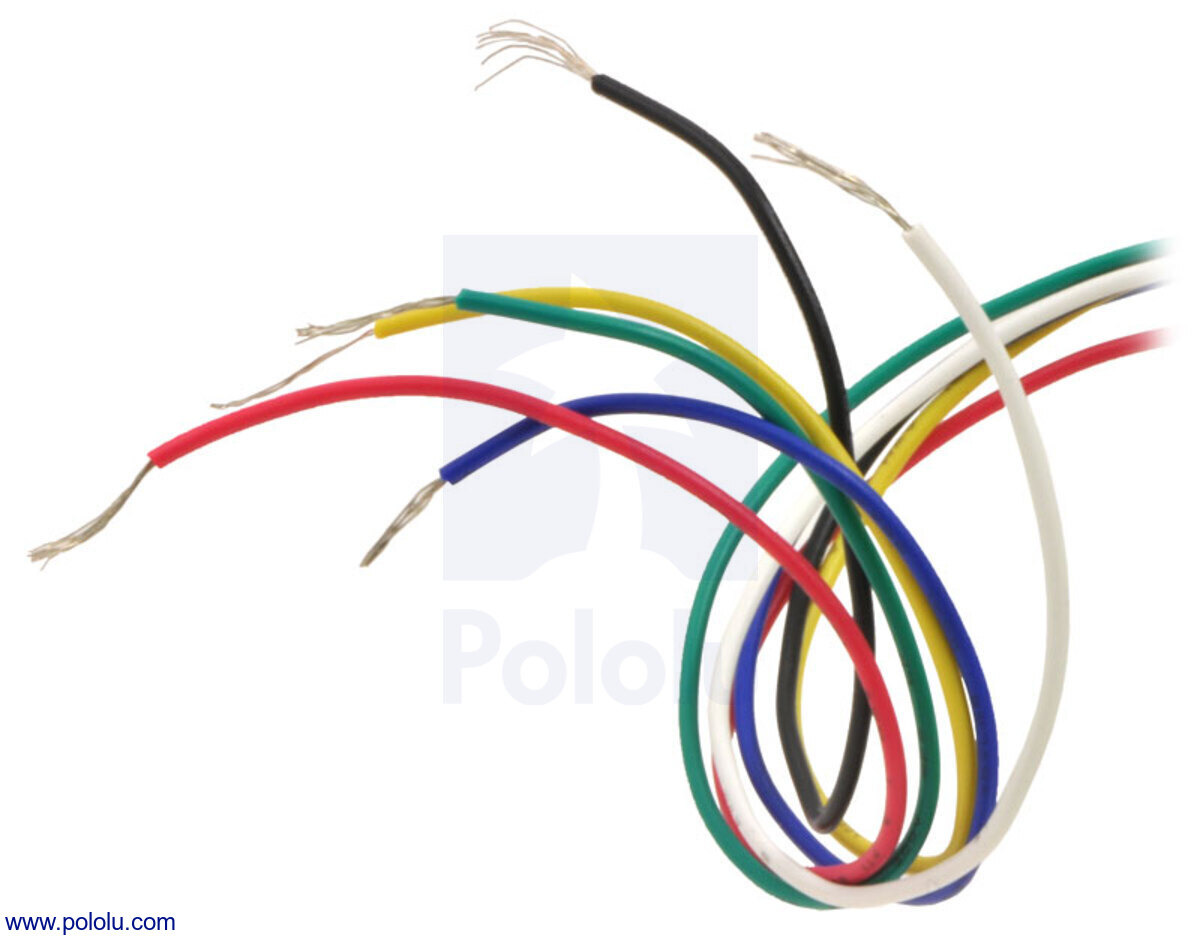 6 lead unipolar bipolar stepper motor wires are terminated with bare leads  [ 1200 x 941 Pixel ]