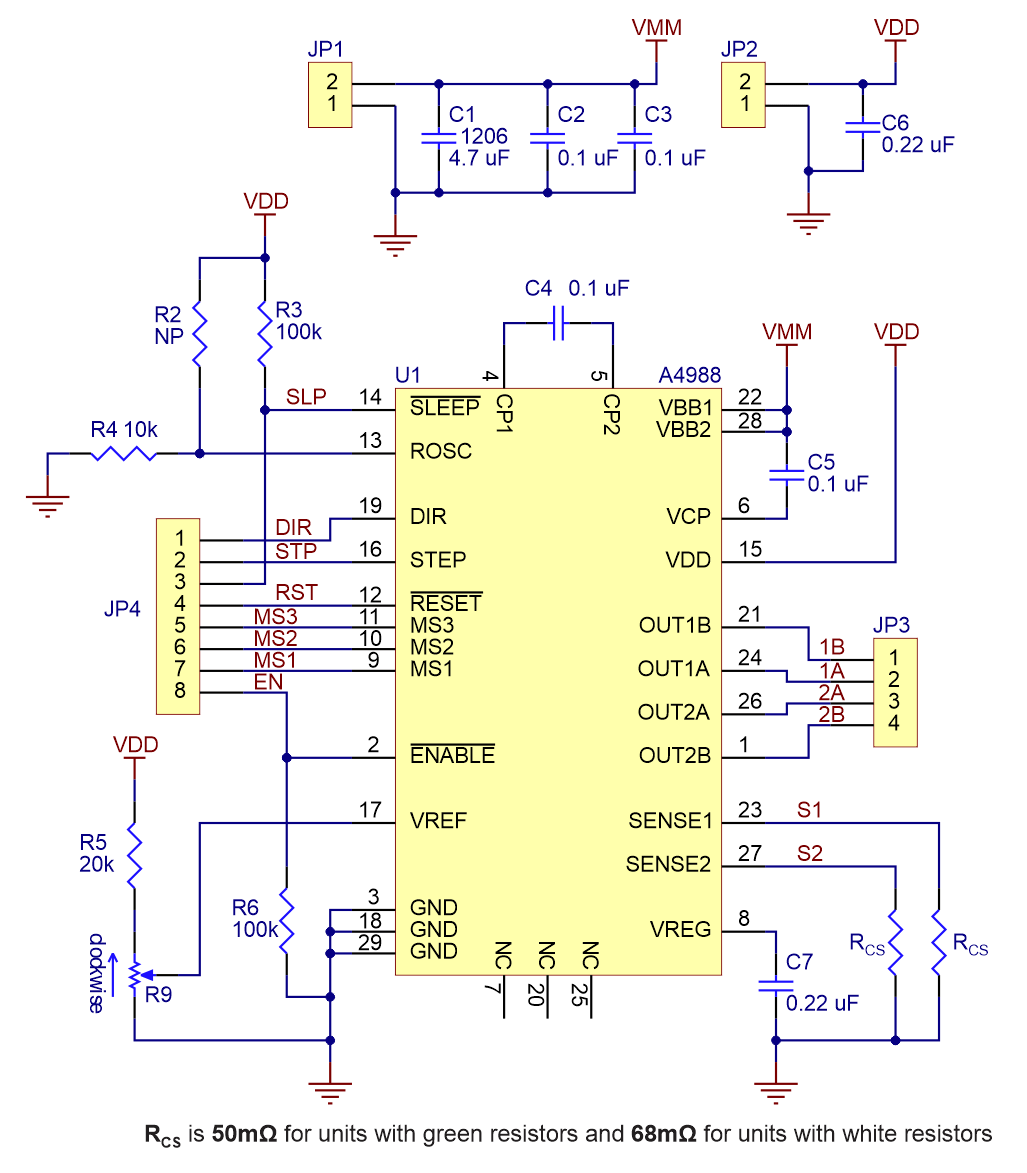 small resolution of pololu schematic diagram of the a4988 stepper motor driver carrier carrier schematic diagram