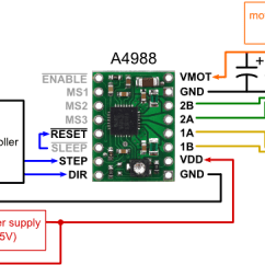 Single Phase Dual Voltage Motor Wiring Diagram Split Ac Pololu - A4988 Stepper Driver Carrier