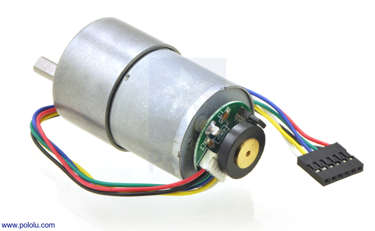 small resolution of 37d mm metal gearmotor with 64 cpr encoder no end cap