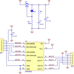 Dual Voltage Single Phase Motor Wiring Diagram Savage Model 110 Parts Pololu Drv8835 Driver Carrier Schematic