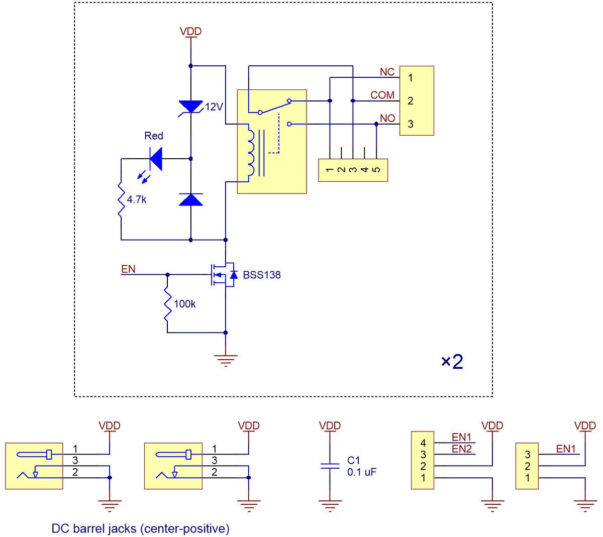pololu basic 2 channel spdt relay carrier schematic diagram  [ 1200 x 1069 Pixel ]