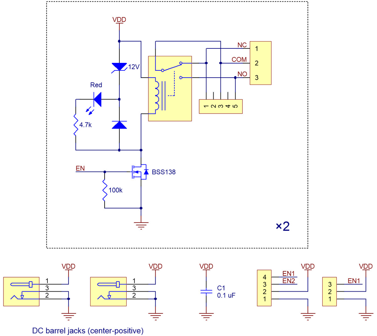 small resolution of pololu basic 2 channel spdt relay carrier schematic diagram