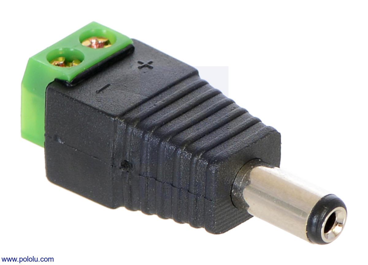 hight resolution of pololu connectors home 12 volt wiring terminals negative blockblack