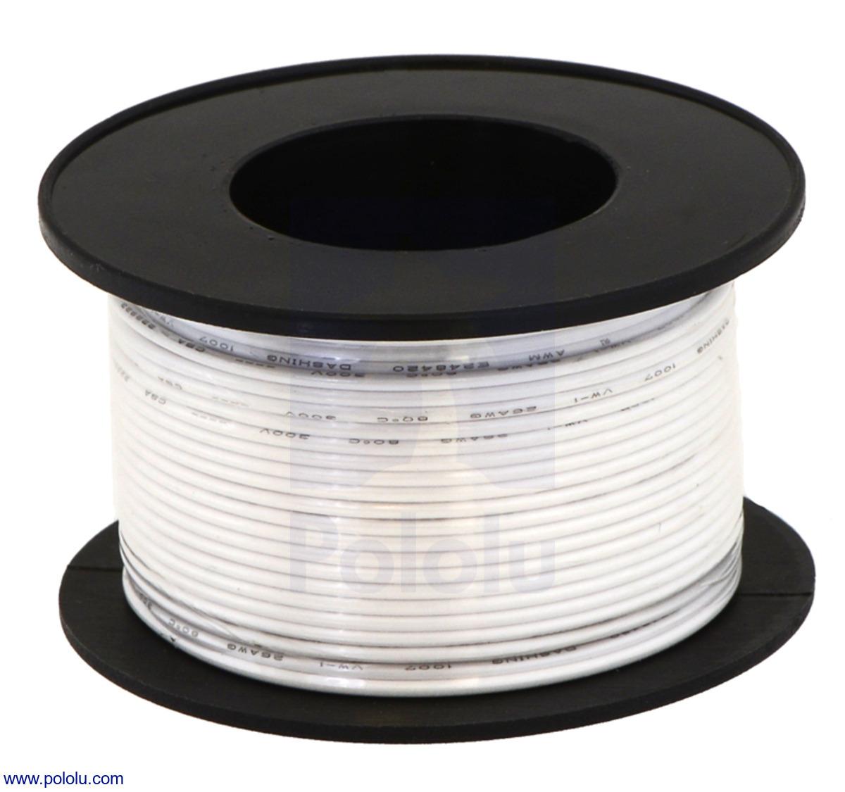 medium resolution of stranded wire white 30 awg 100 feet