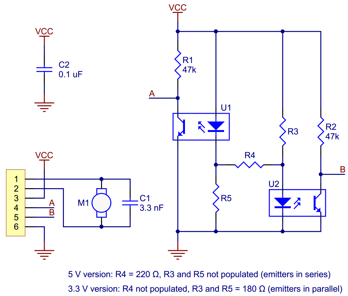 hight resolution of schematic diagram for the micro metal gearmotor reflective optical encoder
