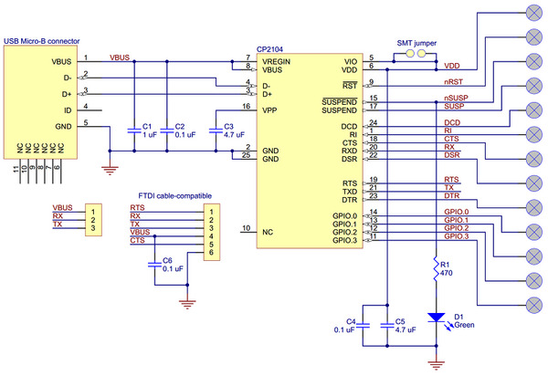 Ftdi Usb Serial Cable Wiring Diagram Pololu Cp2104 Usb To Serial Adapter Carrier