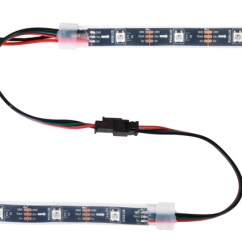 Led Strip Light Wiring Diagram Dayton Motor Drum Switch Pololu Addressable Rgb 120 5v 2m Ws2812b Two Strips Connected