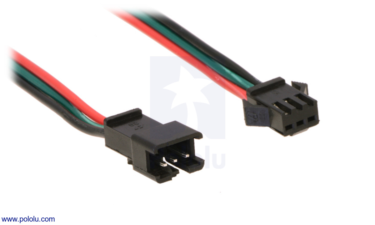 hight resolution of a close up of the jst sm connectors for our addressable led strips