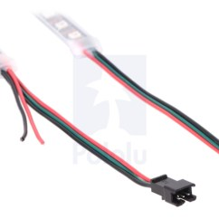Led Strip Light Wiring Diagram Fisher Minute Mount 2 Pololu Addressable Rgb 120 5v 2m Ws2812b The Connectors And Power Wires For Strips On Left Is Input End Of Right Output