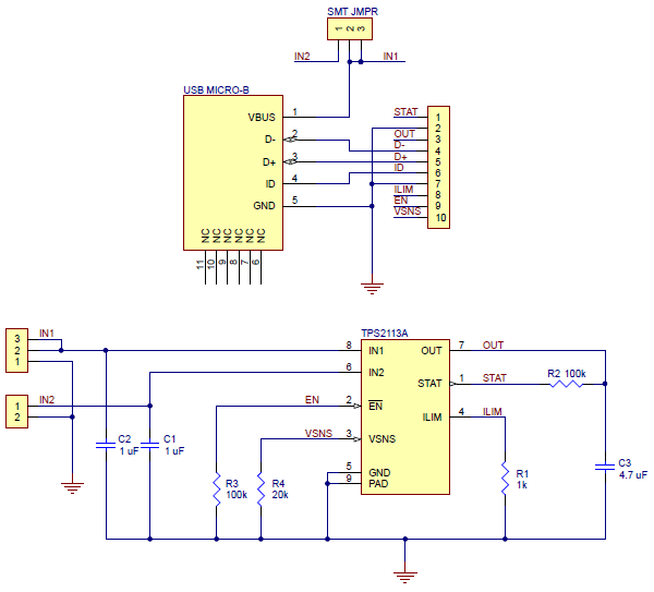 A And B Ethernet Cable Wire Diagram Pololu Tps2113a Power Multiplexer Carrier With Usb Micro