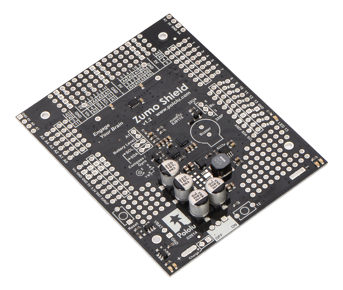 hight resolution of zumo shield for arduino v1 2 as it ships assembled with surface mount components only