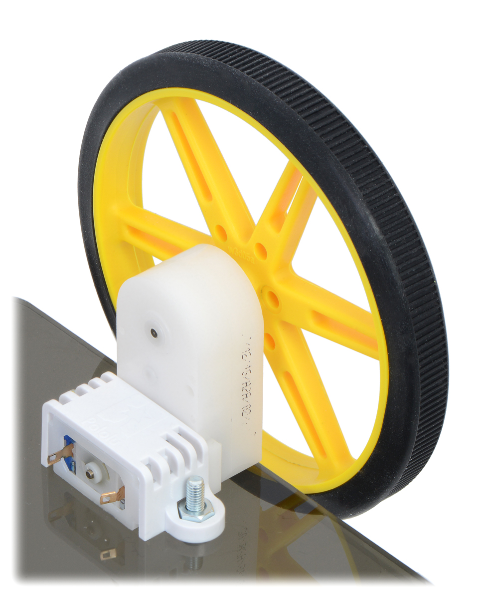 medium resolution of 80 10mm pololu wheel and offset mini plastic gearmotor mounted with a wide mini plastic gearmotor bracket