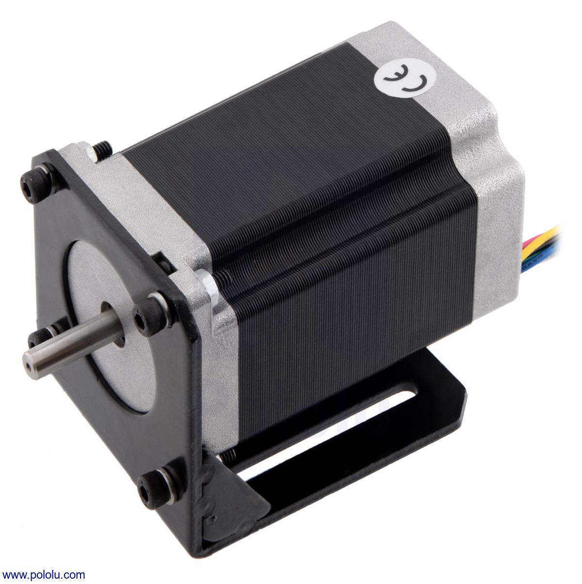medium resolution of nema 23 stepper motor item 1475 mounted with a steel l bracket for nema 23 stepper motors