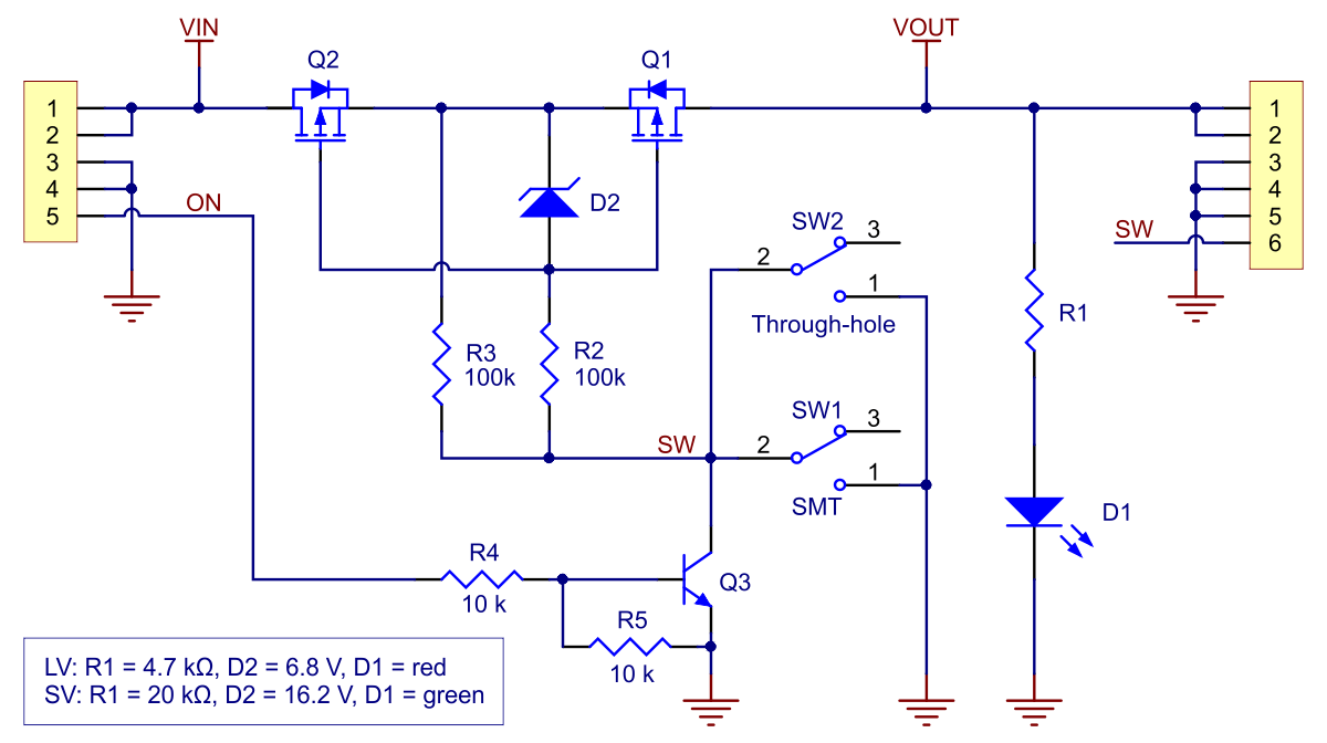 Spdt Relay Schematic Diagram Pololu Mini Mosfet Slide Switch With Reverse Voltage