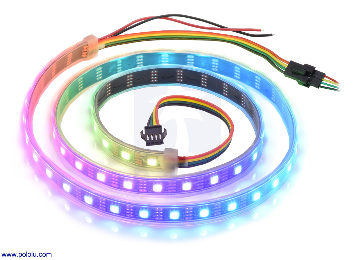 hight resolution of this strip is 1 meter long and has 60 leds with a density of 60 leds per meter