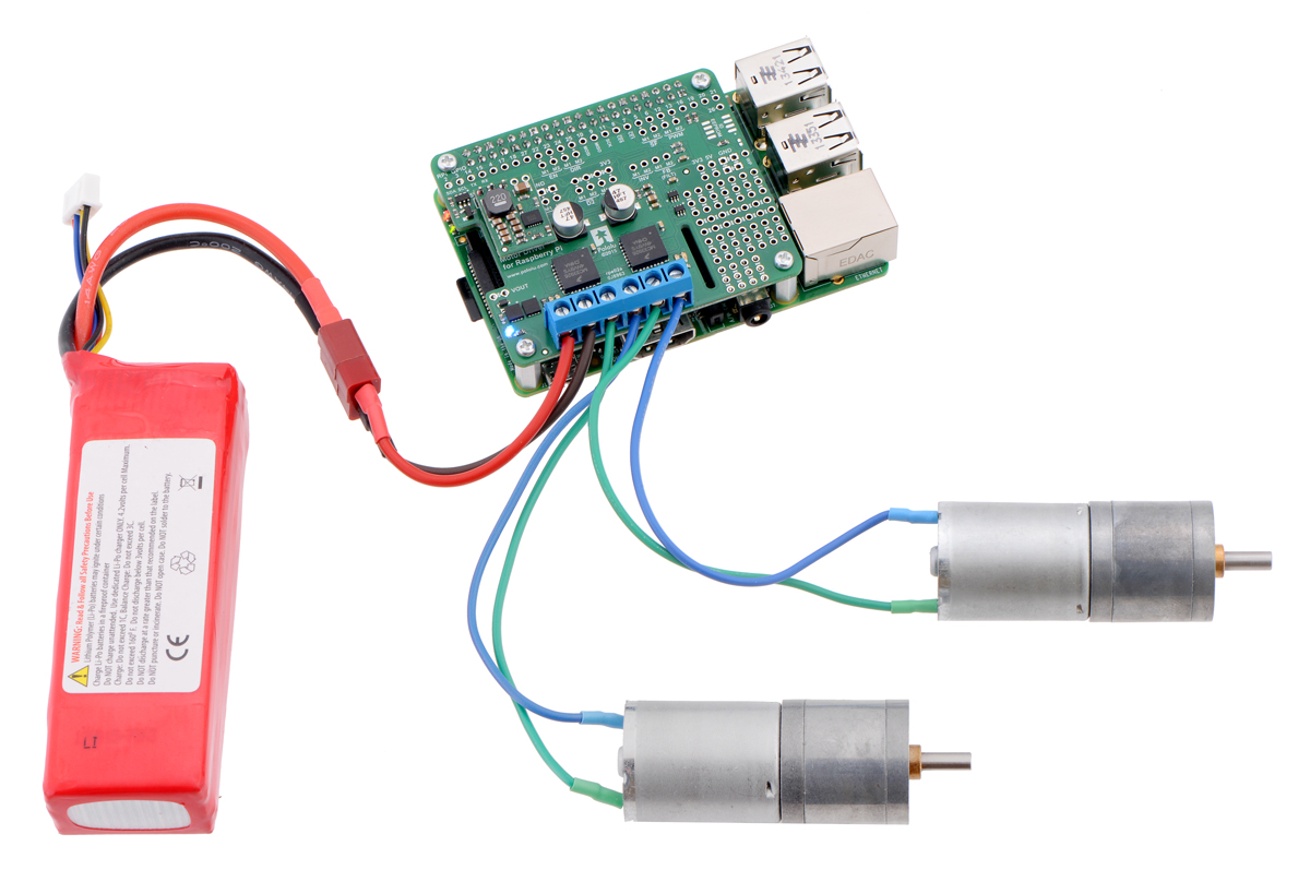 small resolution of driving motors with a 2756 dual motor driver on a on a raspberry pi model b or pi 2 model b a step down regulator provides 5 v to the raspberry pi