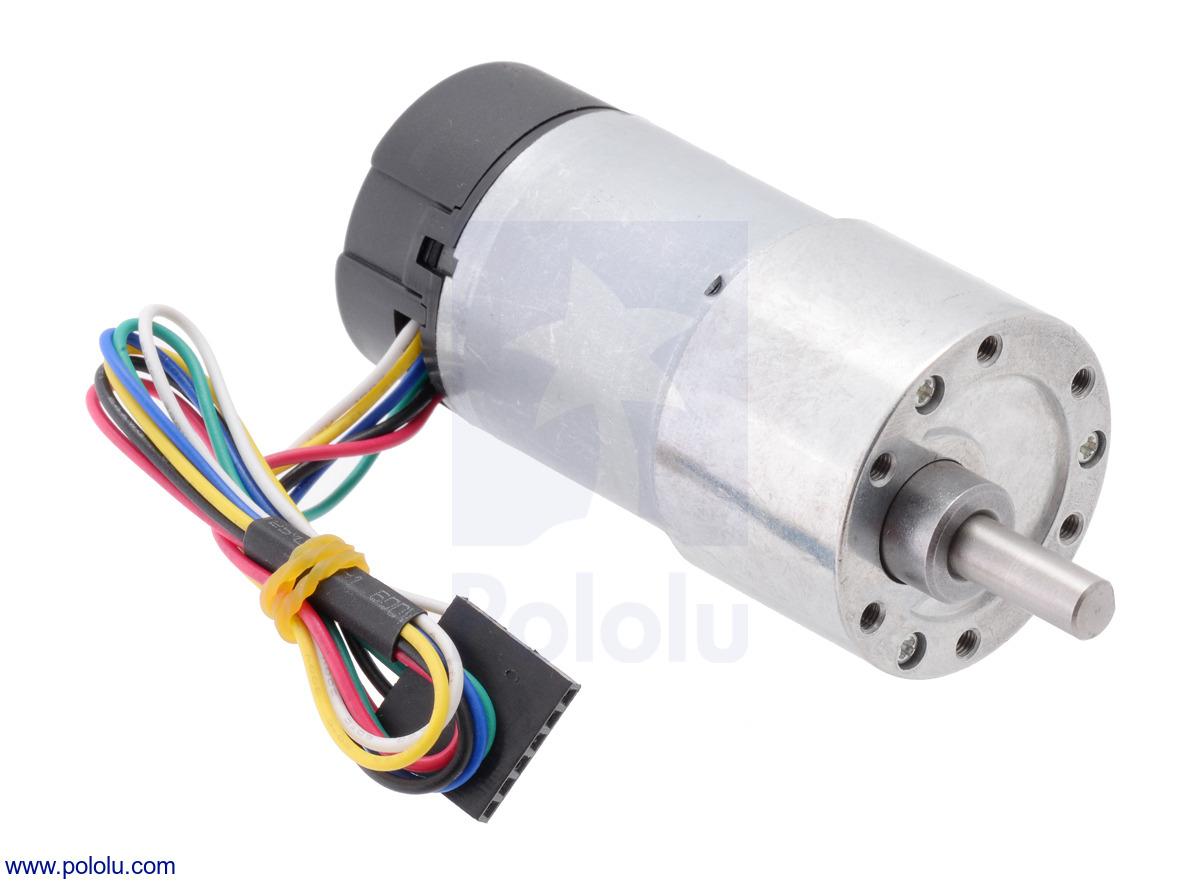 medium resolution of 131 1 metal gearmotor 37dx73l mm with 64 cpr encoder