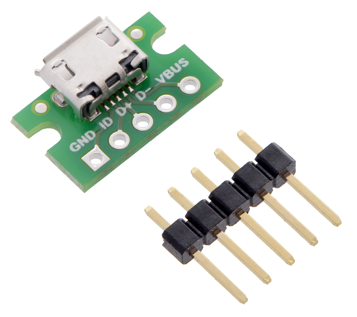 medium resolution of usb micro b connector breakout board