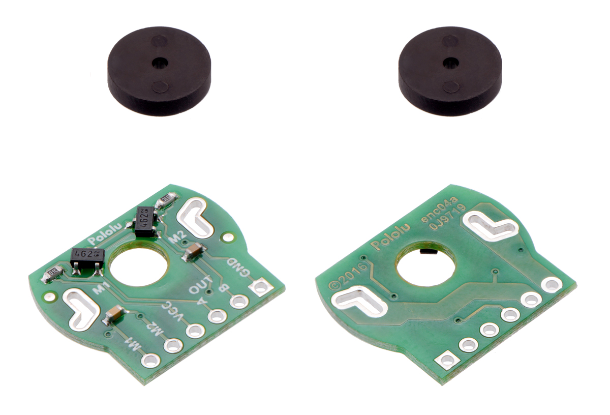 medium resolution of magnetic encoder pair kit for 20d mm metal gearmotors 20 cpr 2 7 18v