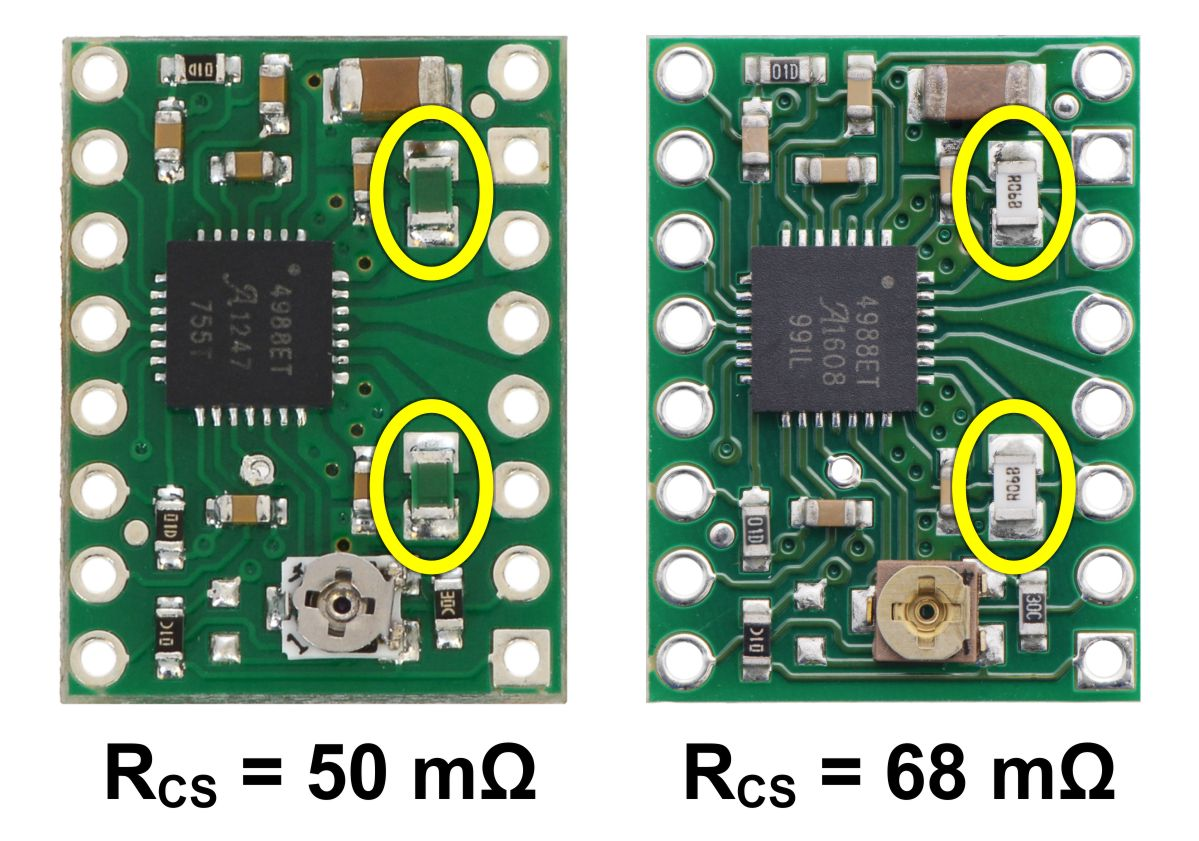 small resolution of identification of original 50 m sense resistors left and 68 m sense resistors right introduced in january 2017