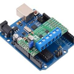 Pin 7 Arduino Piranha Dual Battery System Wiring Diagram Pololu Max14870 Motor Driver Shield For