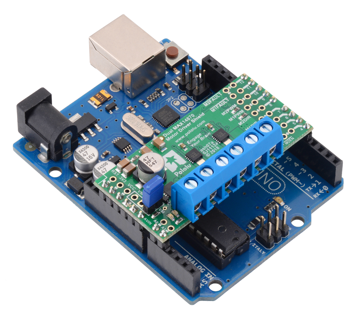 pin 7 arduino 1998 dodge ram 2500 abs wiring diagram pololu dual max14870 motor driver shield for
