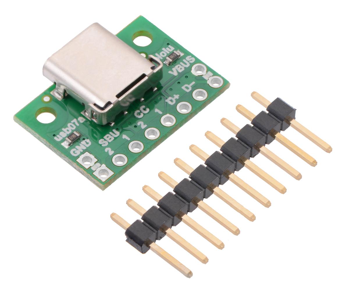 medium resolution of usb 2 0 type c connector breakout board