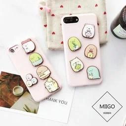 日本可愛 透明小生物 角落生物 iPhone 6 6S 7 PLUS 手機殼 包邊 手機套 掛繩 超薄保護殼 - 露天拍賣
