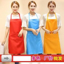 kitchen aprons decorating counters 韩版时尚围裙印字定做咖啡店超市工作服厨房围裙素色圍裙 露天拍賣