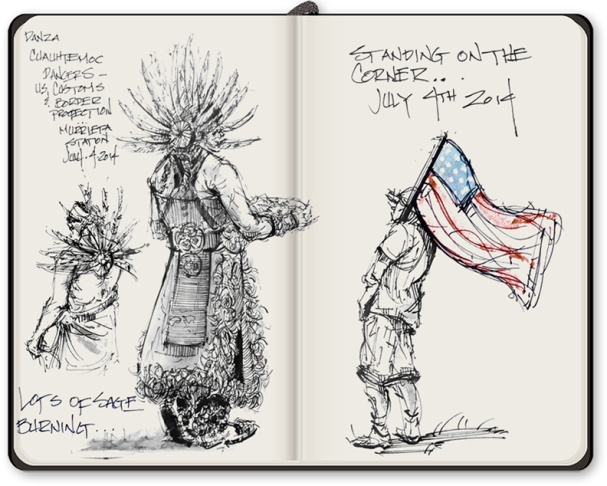 Slideshow: Immigration news: Sketches of Murrieta and the