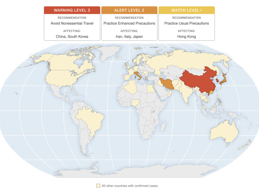 MAP: Which Countries Have CDC Travel Advisories Because Of ...